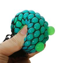 Bingole 2PCS Randomly Mesh Squishy Balls Stress Relief Squeeze Grape Balls Relieve Pressure Balls