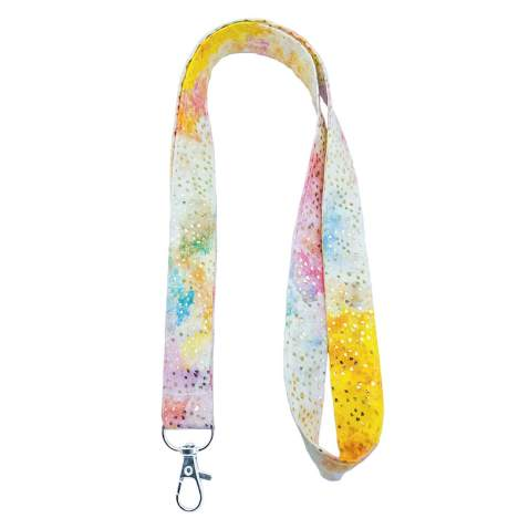 Printed Fabric ID Card Holder Neck Strap Lanyard Retractable Badge Holder Carabiner Reel Clip for Phone Keychain 2