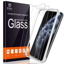 MP-MALL (3 Pack) Screen Protector for iPhone 11 Pro/iPhone X 5.8'' Tempered Glass - Case Friendly Easy Installation Tray