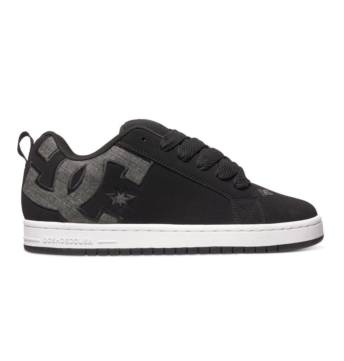 DC Shoes Mens Shoes Court Graffik Se - Shoes - 8.5 - Black Black Wash 8.5
