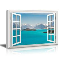 Window View Nature Landscape with Islands and Mountains Gallery 12x18 inches
