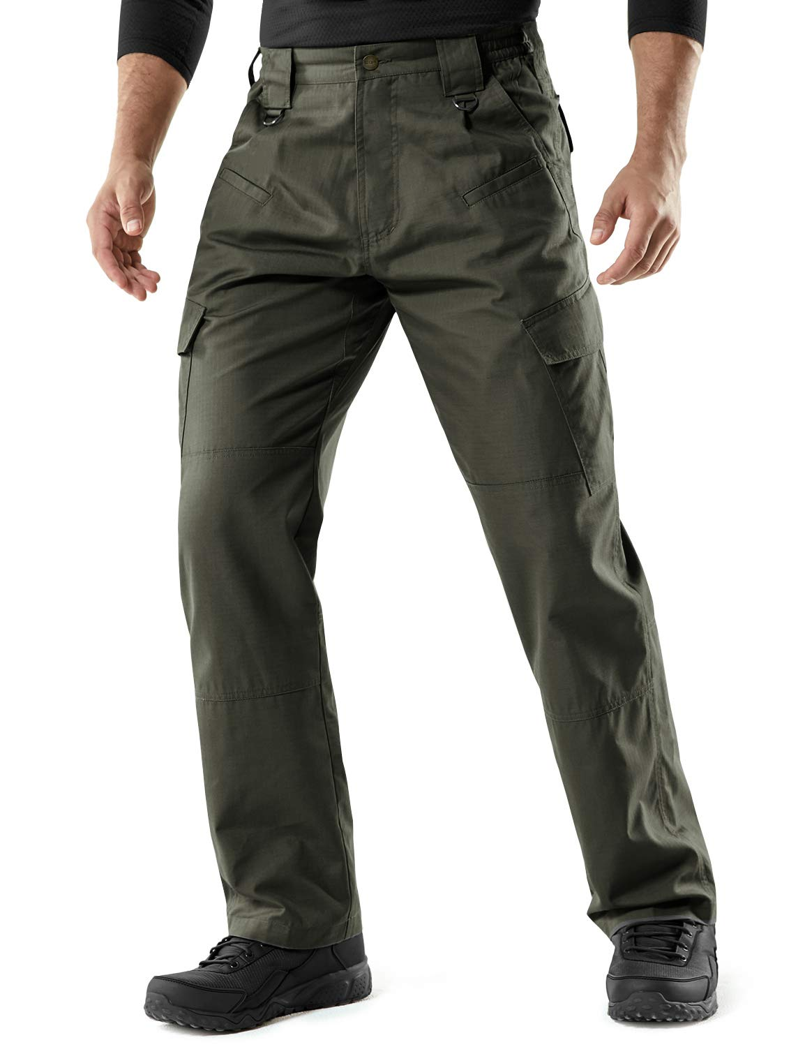 Work Outdoor Pants CQR Mens Convertible Cargo Pants Zip Off Lightweight Stretch UPF 50 Water Repellent Hiking Pants
