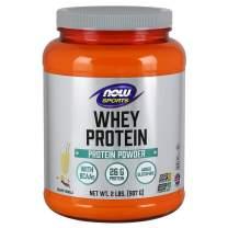NOW Sports Nutrition, Whey Protein, 24 G With BCAAs, Creamy Chocolate Powder, 2-Pound