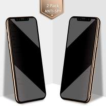 (2 Pack) Privacy Screen Protector for iPhone 11 Pro Max/iPhone Xs Max, BASE MALL (Anti-Spy) Full Coverage Tempered Glass for iPhone 11 Pro Max/Xs Max 6.5'', 9H Hardness, Case Friendly, Easy Install
