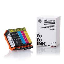 YoYoInk Compatible Ink Cartridge Replacement for Canon PGI-220 220 / CLI-221 221 High Yield (1 Black, 1 Photo Black, 1 Cyan, 1 Magenta, 1 Yellow, 5-Pack)