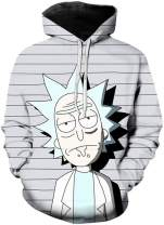 Chaos World Men's Novelty Hoodie 3D Print Funny Cartoon Graphic Sweatshirts Casual Pullover