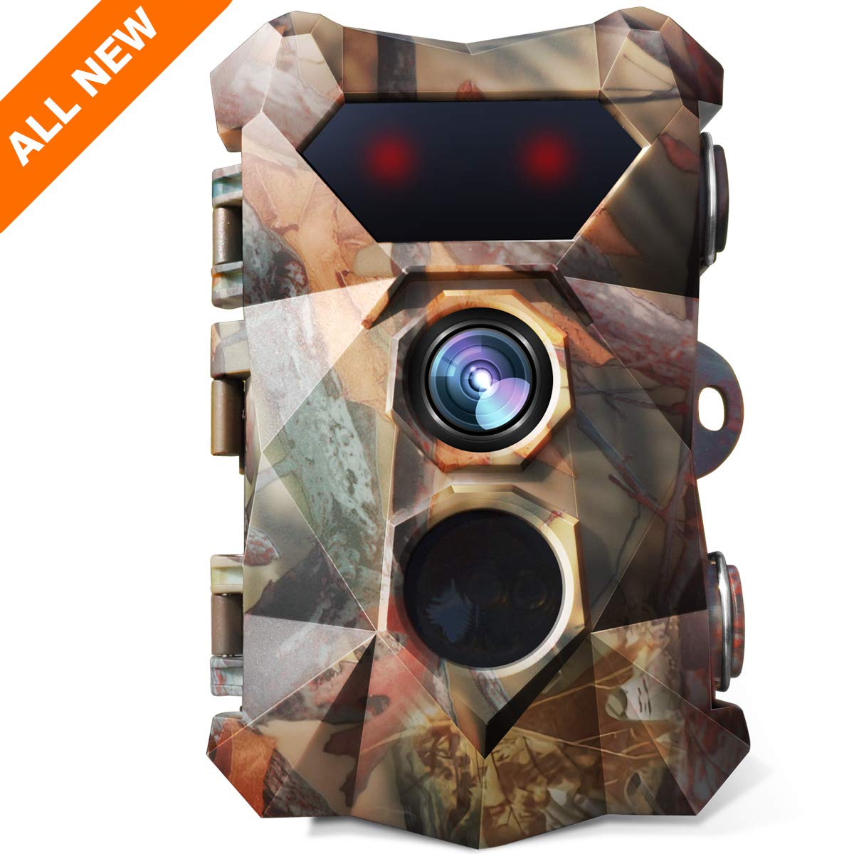 """AIMTOM 16MP 1080P Trail Camera 0.3s Trigger Speed Motion Activated Hunting Cam Waterproof Wildlife Security Monitor w/ 2.4"""" LCD Screen"""