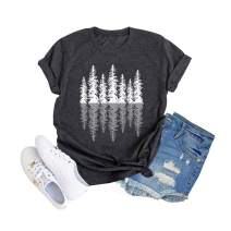 Womens Short Sleeve Upside Down Graphic Shirt Tees Casual Vintage Summer Holiday Tops
