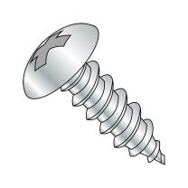 """Steel Sheet Metal Screw, Zinc Plated, Truss Head, Phillips Drive, Type AB, #6-20 Thread Size, 3/8"""" Length (Pack of 100)"""