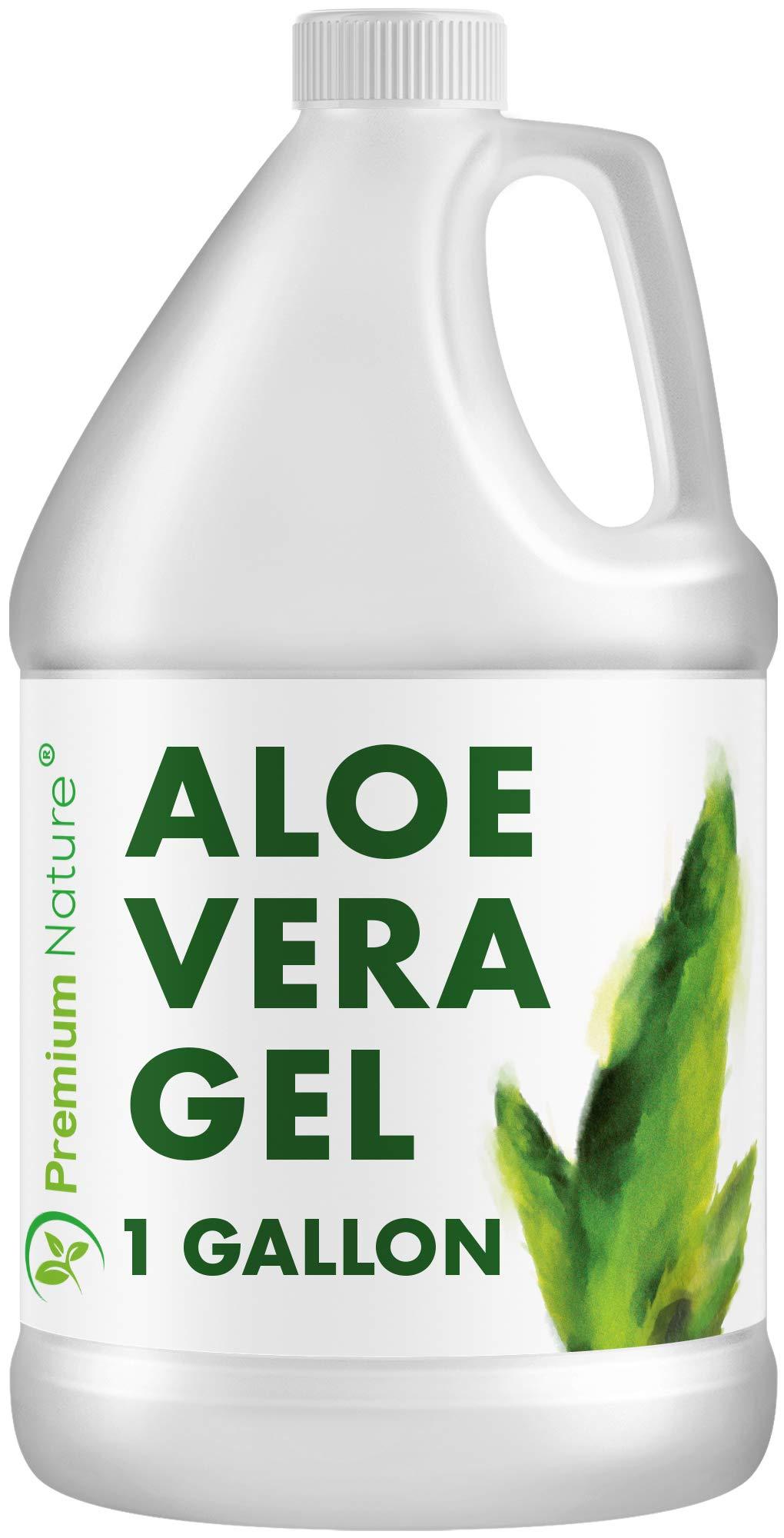 Pure Aloe Vera Gel Lotion- For Face & Dry Skin Psoriasis Eczema Treatment Cold Sore Scar After Bug Bite Sunburn Relief Rash Razor Bump DIY Body Lotion Skincare Moisturizer 1 Gallon