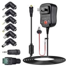 SoulBay 12W Universal AC Adapter 3V 4.5V 5V 6V 7.5V 9V 12V Switching DC Power Supply Charger Cord with 8 Tips for 3-12V Household Electronics - 1A Max