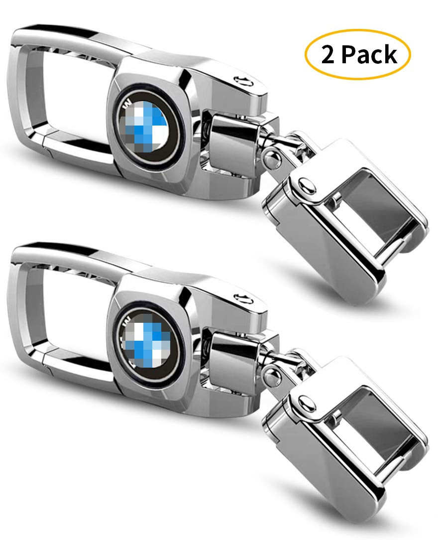 2 Pack Car Key Fob Key Chain Heavy Duty Keychain for BMW m3 m5 7 X1 x2 x5 x3 X6 3 5 6 2 m4 x1 x4 z3 z4 1 328i x e90 e36