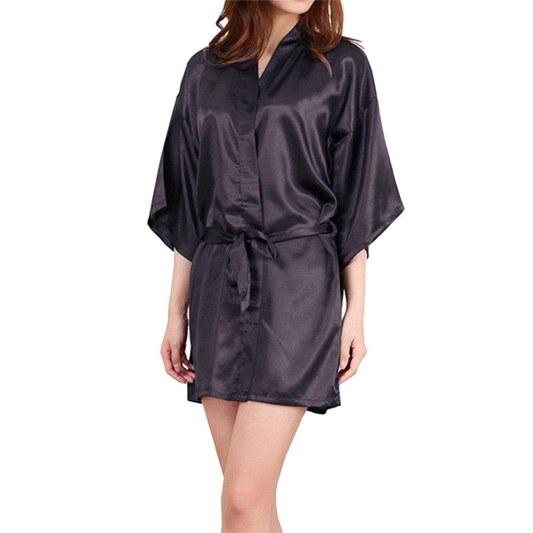 Sidiou Group Women Dressing Nightgown Kimono Robe Lace Nightwear Sexy Sleepwear