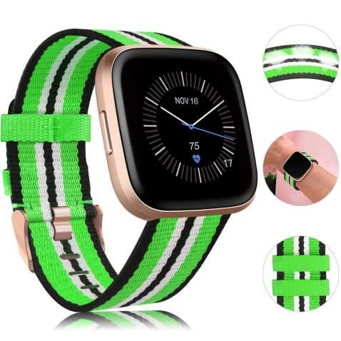 Bands For Fitbit Versa Versa 2 LiteWoven Fabric Strap Adjustable Wristband