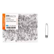 Officepal 100-Piece Safety Pins, Size 3, 1.8inch / 45mm – Durable, Rust-Resistant Nickel Plated Steel Set- Best Sewing Accessories Kit for Baby Clothing, Crafts & Arts