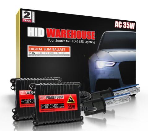 Lightning Blue Xentec H3 8000K HID xenon bulb x 1 pair bundle with 2 x 35W Digital Ballast