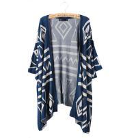 Bestmaple Women's Cotton Seal Plus Size Seed Stitch Aztec Cardigan Shawl Sweater