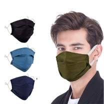 Woplagyreat 4PACK Fashion Cotton Face Mask Reusable Washable Designer Face Covering for Outdoor Activities