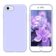 YINLAI iPhone SE 2020 Case, iPhone 8 Case iPhone 7 Case Slim Liquid Silicone Non Slip Shockproof Hybrid Hard Back Cover Soft Bumper Protective Phone Case for iPhone SE 2nd Gen/ 8/7, Lavender Purple