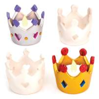 Crown Ceramic Tealight Holders (Box of 4)
