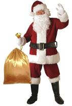 Orolay Deluxe Santa Costume for Men Santa Claus Suit Adults Christmas Jacket