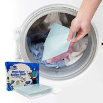 Laundry Sheets Fabric Softening Dryer Light Scent Detergent Fabric Softener Stain Lifter and Static Guard 16PCS X 3