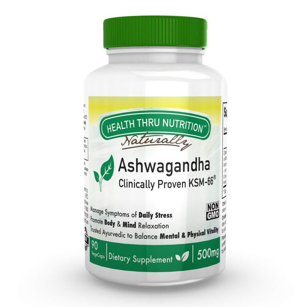 Ashwagandha 500mg Pure KSM66® 90 vegecaps High Potency (Clinically Proven and Organic Root-Only Ashwagandha)