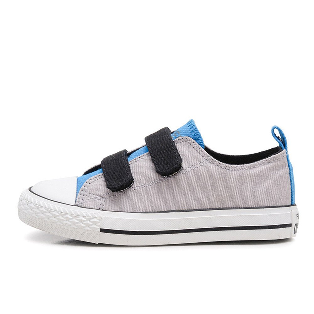 MK MATT KEELY Kids Canvas Shoes Gray Sneakers for Toddler Boys Shoes Children Hook Loop Loafers School Board Shoes
