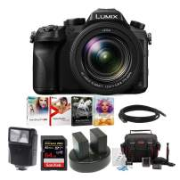 "Panasonic LUMIX DMC-FZ2500 Digital Camera, 21.1 Megapixel, 1"" Sensor,4K + 2 Wasabi Battery and 64GB Bundle"