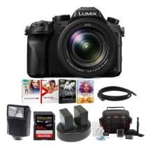 "Panasonic LUMIX DMC-FZ2500 Digital Camera, 21.1 Megapixel, 1"" Sensor,4K + 2 Wasabi Battery and 64GB Bundle"