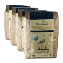 Great River Organic Milling Organic Brown Rice Flour, 5 Pound, 4 Count