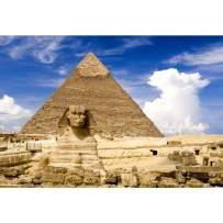 Baocicco 10x8ft Egyptian Pyramids Backdrop The Great Sphinx Weathered Stone Vintage African Buildings Photography Background Wedding Birthday Party Travel Tourist Adults Portrait Studio Video Props
