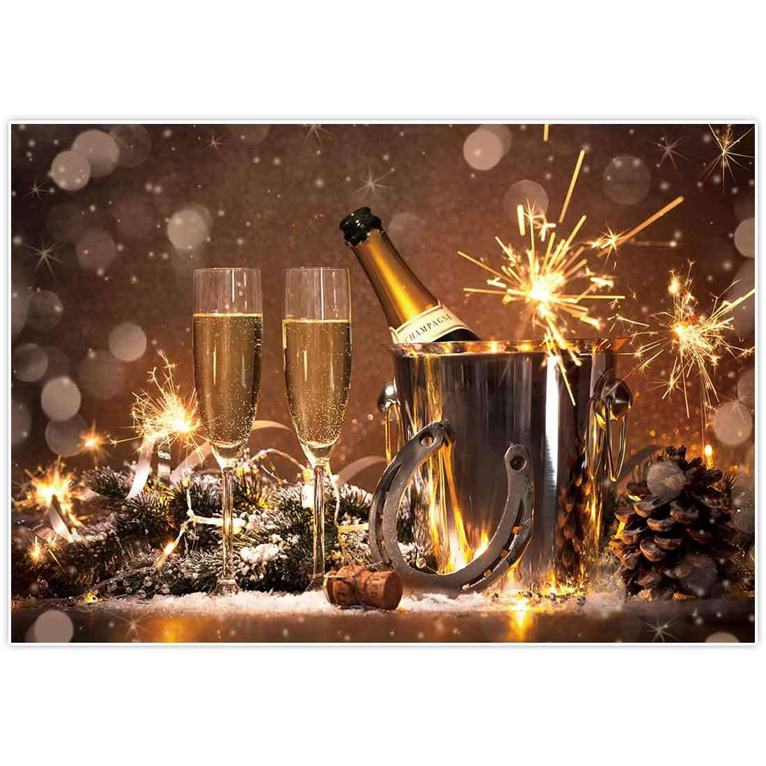 Allenjoy 7x5ft New Year Party Backdrop NYE Supplies Bokeh Golden Glitter Annual Events Family Home Decorations Celebration Festival Photoshoot Props Photography Background Favors Photo Booth Banner