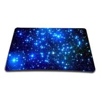 Non-Slip Rubber Base Mousepad for Laptop Computer PC Personality Desings Gaming Mouse Pad Mat 9.45 X 7.87 inch (Blue Galaxy, 9.45 X 7.87 inch)