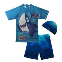 chaqlin Kids Boys Rashguard Swimsuit Bathing Suit Swimwear Sets Toddler Gifts