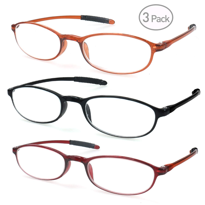 Reading Glasses for Men Women Readers Lightweight 3 Pack Flexible Ultra Clear Vision