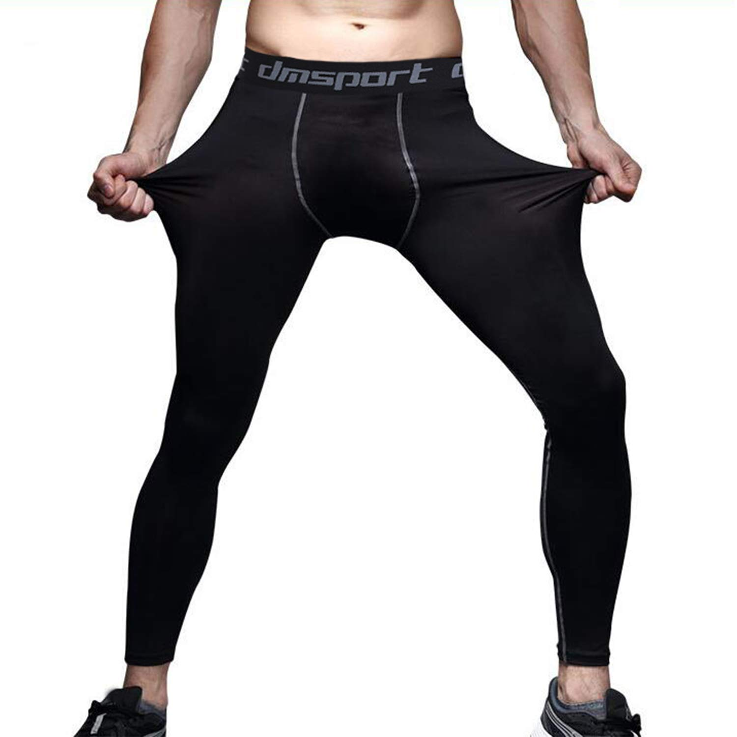 FITTOO Men's Compression Fitness Pants Cool Dry Running Workout Tights Leggings
