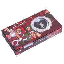 JOE FOREMAN Wish Pearl Necklace Kit Gift Pearl in Oyster Merry Christmas Santa Claus Face Cage Love