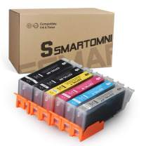 S SMARTOMNI Compatible Ink Cartridge Replacement for Canon PGI-270XL CLI-271XL PGI 270 to use with PIXMA TS8020 TS9020 MG7720 (1 Large Black, 1 Small Black, 1 Cyan, 1 Magenta, 1 Yellow, 1 Gray)6 Pack