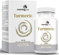 Turmeric Curcumin 650 mg Supplement 120 Vegi Caps by Morning Pep with Bioperine Added for Better Absorption