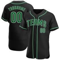 Custom Hip Hop Baseball Jersey Personalized Softball Team Uniforms Mesh Full Button Stitched Text Big & Tall
