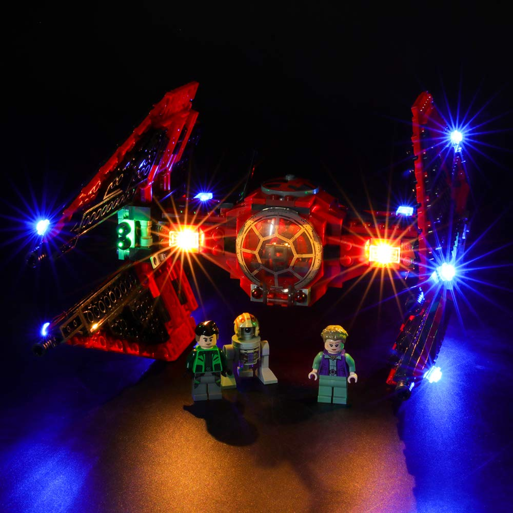 BRIKSMAX Led Lighting Kit for Major Vonreg's TIE Fighter - Compatible with Lego 75240 Building Blocks Model- Not Include The Lego Set
