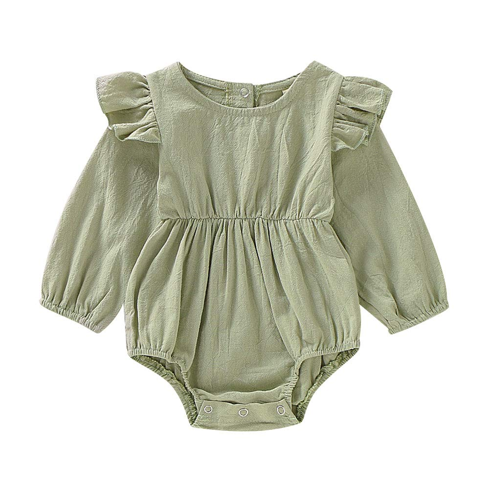 Aweyoo Baby Girls Clothes 0-18 Months Onesies Newborn Outfits Romper Cute Bodysuit Shirt Cotton Tops