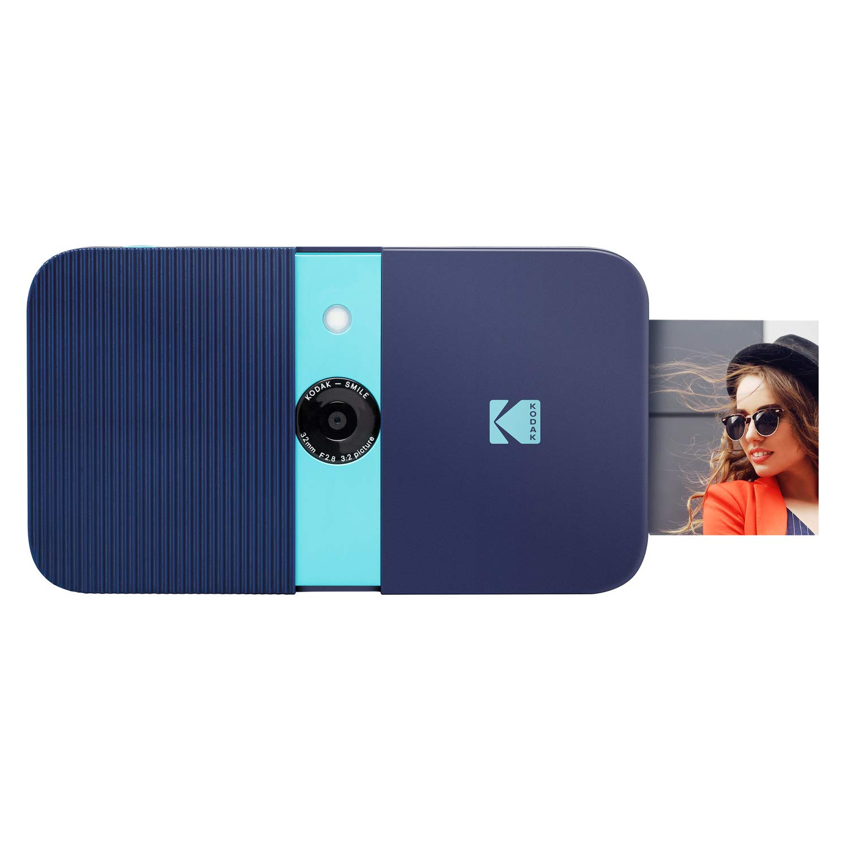 KODAK Smile Instant Print Digital Camera – Slide-Open 10MP Camera w/2x3 ZINK Printer (Blue)
