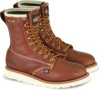"""Thorogood Men's American Heritage 8"""" Round Toe, MAXWear Wedge Waterproof Non-Safety Toe Boot (3M Thinsulate)"""