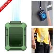 Personal Belt Fan Clip On Waist Portable Cooling Fan & USB Necklace Fan for Travel Outdoor Working Jobsite, 7000RMP Strong Airflow/ 3 Speeds Adjustable