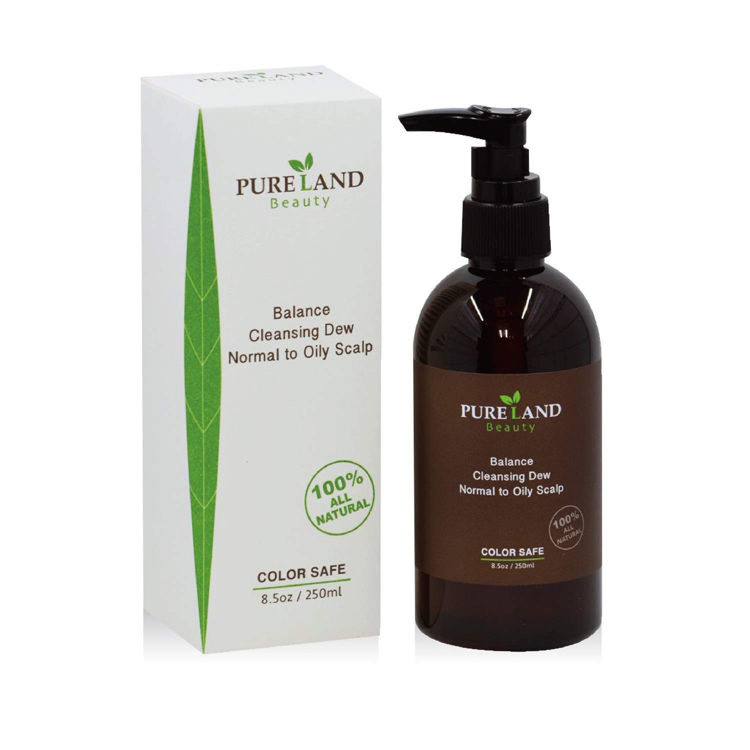 Pureland Beauty Balance Cleansing Dew, Save Your Scalp and Hair - 100% All Natural Hair Shampoo for Normal to Oily Scalp - Provide Your Hair Healthy Growth - 8.5 oz.…