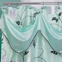 "Popular Bath 705942 Shower Curtain with Valance, Avantie Collection, 70"" x 72"", Aqua"