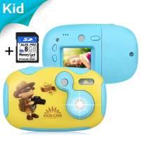 "AGM Kids Camera for Girls & Boys, 1.4"" Mini Children Video Recorder Toddler Digital Camera with 8GB Memory Card, DIY Creative Birthday Children's Day for Kids"