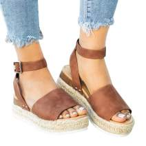 Brown Sandals for Women Flat Comfortable Summer Beach Walking Sandal on Sale Size 40